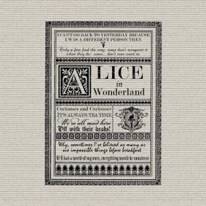 Alice In Wonderland Quotes Typography Wall Decor Art Printable Digital ...