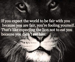 Tagged with lion quote world eat life
