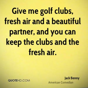 Jack Benny Sports Quotes
