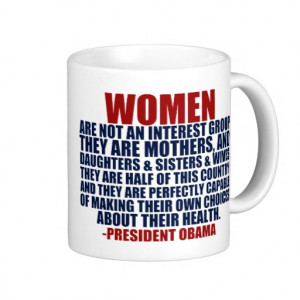 Women's Rights Obama Quote Mugs