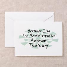 Administrative Assistant Greeting Cards