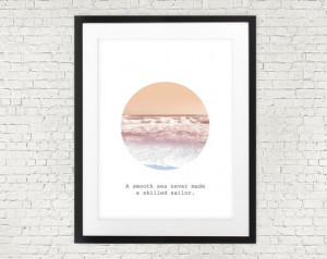 Sea quote print, ocean nautical print, marine illustration, home wall ...