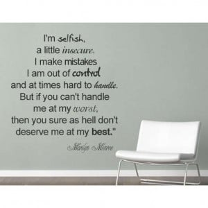 Selfish text wall quote decal for home wall decoration - Photo
