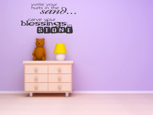 Wall Decals and Stickers – Write your hurts in the sand... carve ...