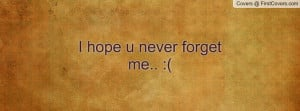 Never Forget Me Quotes