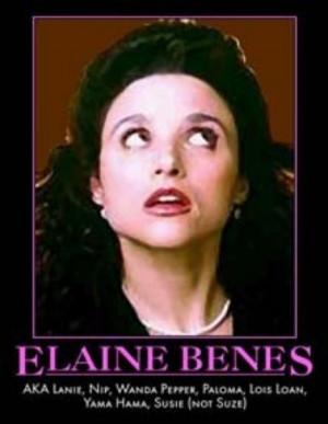 Seinfeld Elaine Benes nicknames motivational parody poster art print