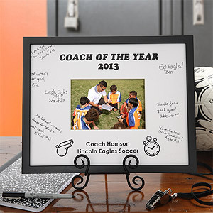 coach signature frame