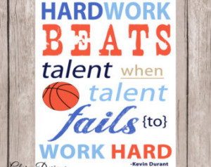 Hardwork Inspirational quote, Baske tball quote, Kevin Durant, Boy ...