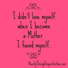SUCH a great and encouraging post! Being a mother doesn't mean you ...