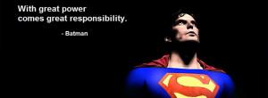 Facebook Cover Photo Superman Vs Batman Quote (click to view)