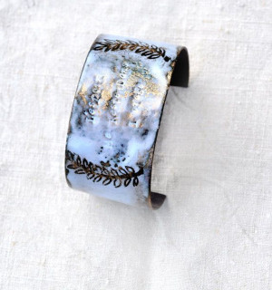 Handcrafted Jewelry French 'STORM' Quote Cuff by bullfinchbarbury