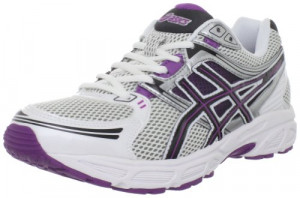 ASICS Women's GEL-Contend Running Shoe,White/Black/Purple,8.5 M US