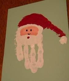 Handprint Art: Preschool Handprint Christmas Card Craft