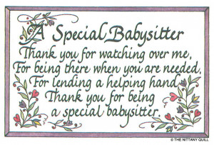 61 special babysitter a special babysitter thank you for watching