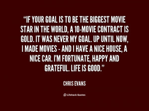 quote Chris Evans if your goal is to be the 1 94862 png