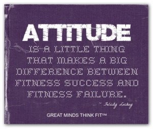 Purple Fitness Attitude Poster