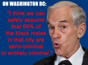 Is Tea Party Candidate Ron Paul A White Supremacist ?