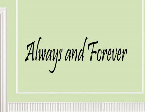 Always and Forever wall decals