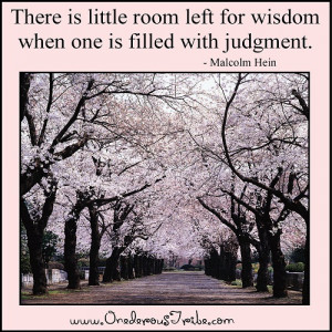 Inspirational Quotes and Sayings There is little room left for wisdom