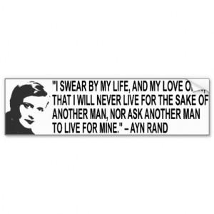 Ayn Rand Quote Bumper Sticker
