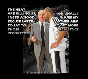 Heat Spurs Finals Game Popovich Tony Parker Funny Nba