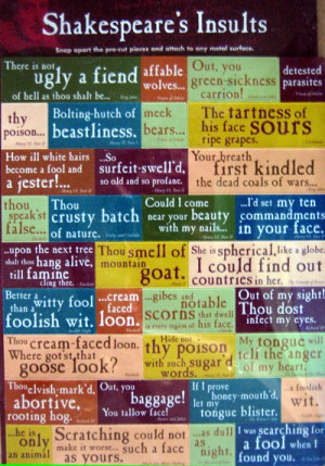 Shakespeare's insults – the infographic