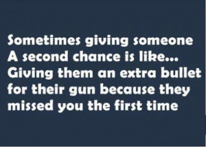 re share if you believe in second chance