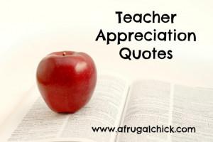 When Teacher Appreciation Week