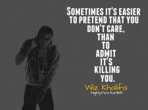 Don't pretend. Please.