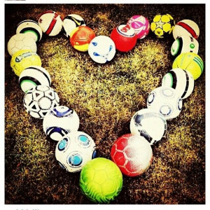 Soccer Love Quotes Soccer ball heart --- for all