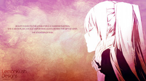 Anime Lonely Wallpaper by LemonKush