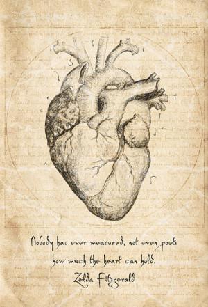 Heart Quote By Zelda Fitzgerald Print by Taylan Soyturk