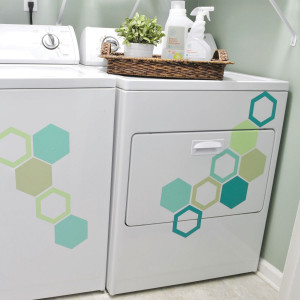 Hexagons Wall Quotes™ Wall Art Decal Kit