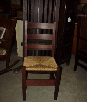 Gustav Stickley #370 side chair original finish and rush seat