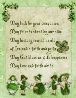 Irish Quote May luck be you companion... Irish jewelry at http://www ...