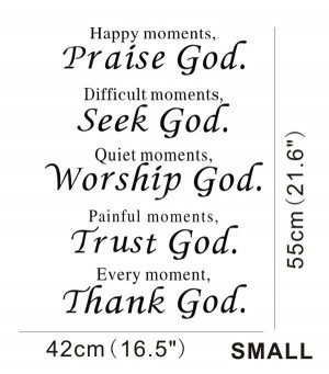 Bible Vinyl Wall Quotes Words Letters Art Decals Home Decoration ...