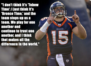 Tim Tebow, Leader