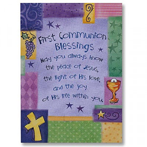 Bread and Wine First Communion Greeting Card