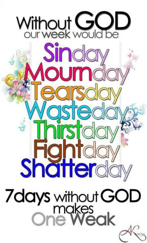 Days of the week without God