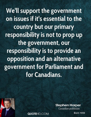 ... and an alternative government for Parliament and for Canadians