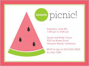 Summer Picnic Summer Invitation