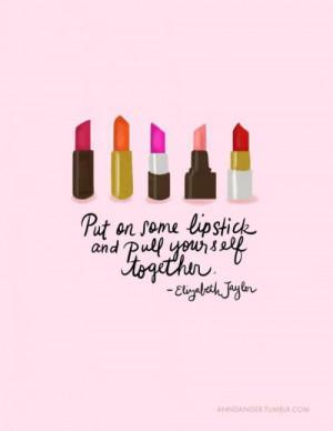 red girl quote fashion glamour beautiful orange makeup lips pink ...