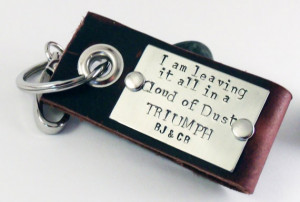 Love Quotes Leather Key Chain-Men-Fathers Day-Anniversary-Groom Gift