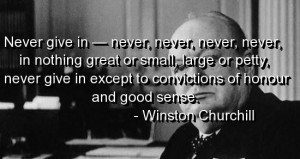 Winston churchill quotes and sayings honour sense never