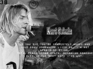 Kurt Cobain Gray with Quote by cobain1337