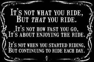 few marvelous BIKER quotes from Pavan's blog