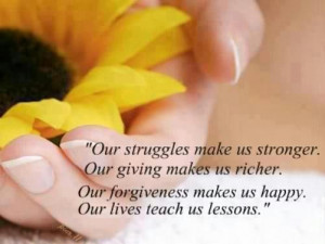 Quotes about our struggles makes us stronger