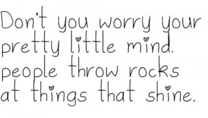 Don't you worry your pretty little mind, people throw rocks at things ...