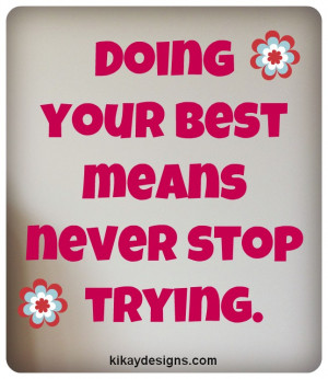 Quotes on Doing Your Best