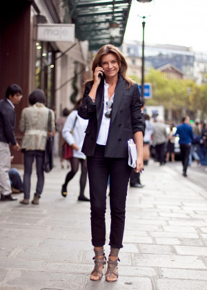 NATALIE MASSENET CUTS HER OWN HAIRAccording to her editorial profile ...